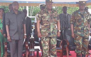 President Mahama in military uniform
