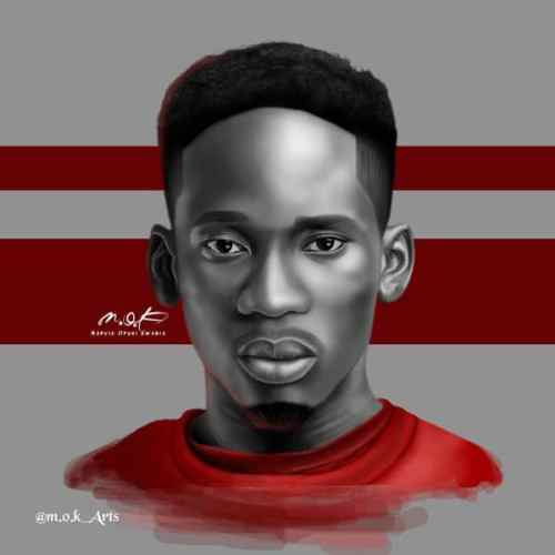"Mr Eazi titles this one ""Rotate Sketch"""