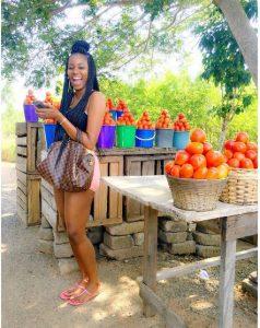 A tomato seller appreciates Yvonne Nelson's Instagram Photo