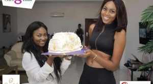 Birthday girl Yvonne Nelson receives a big surprise