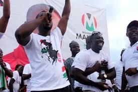 Video: Abeiku Santana in full gear at NDC rally