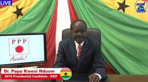 Dr. Papa Kwesi Nduom addresses the nation