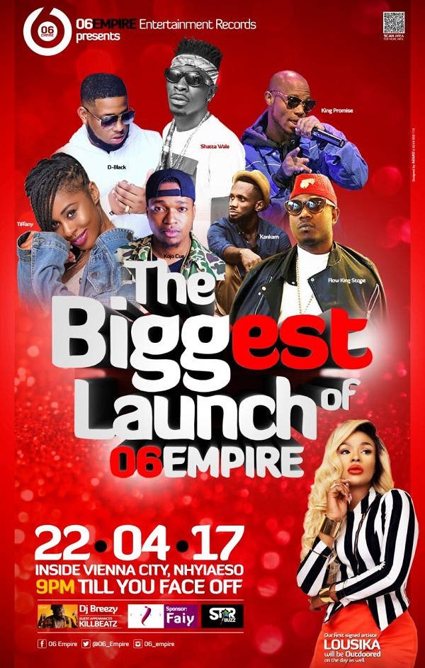 D Black, Shatta Wale others billed for '06 Empire' launch