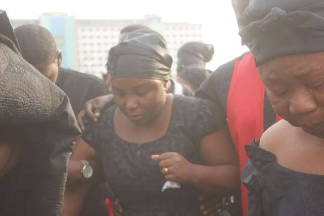 KABA Burial Service :  'I can't believe you are gone' – KABA's wife pays tribute to husband