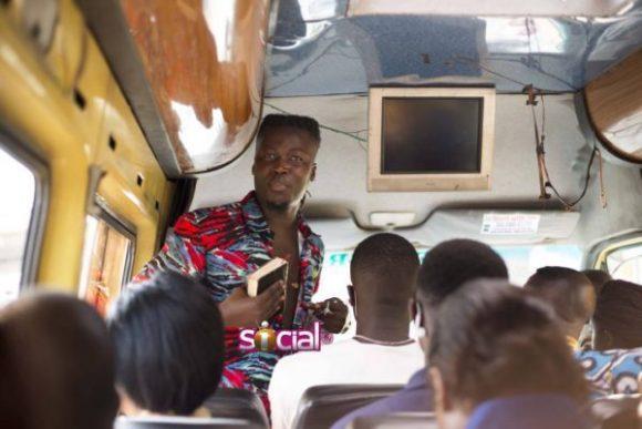 Wisa Greid Spotted Preaching In Trotro