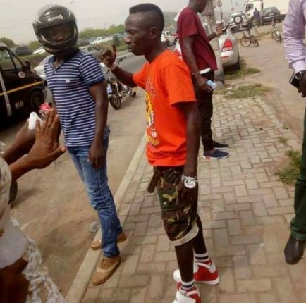 Patapaa  involved in a car accident; denies knocking two people