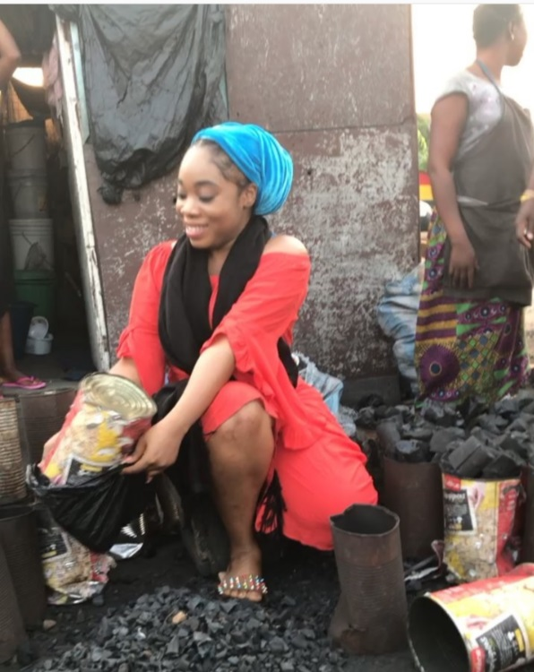 Moesha Boduong turns charcoal seller