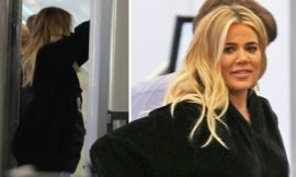 'Pregnant' Khloe Kardashian exposes 'baby bump' accidentally during airport security check