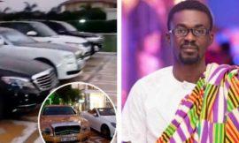RNS: A look at Nana Appiah Mensah's luxurious cars at his plush mansion inside Trasacco