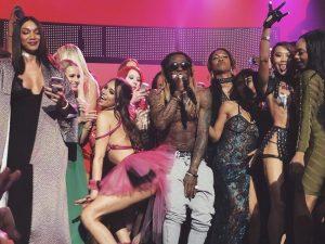 Watch Lil Wayne Perform His Hits With Pornstars At 2018 AVN AWARDS