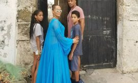 Boris Kodjoe and family's visit to Cape Coast Castle