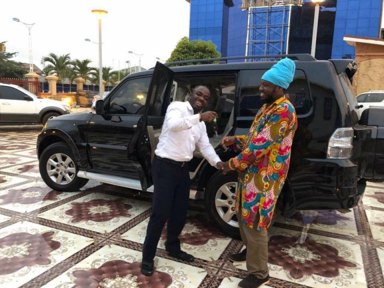 Photos: Blakk Rasta Receives Brand New 4X4 Pajero From Zylofon FM