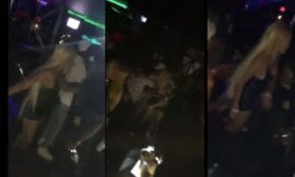 "Watch Video: Shatta Michy ""Fight"" Slay Queen Dotty Lana at Nightclub"