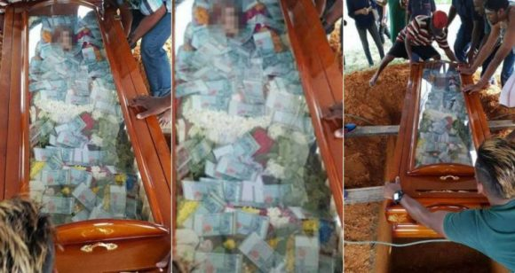 Man buries his father with US$7,630 in cash filled inside glass coffin