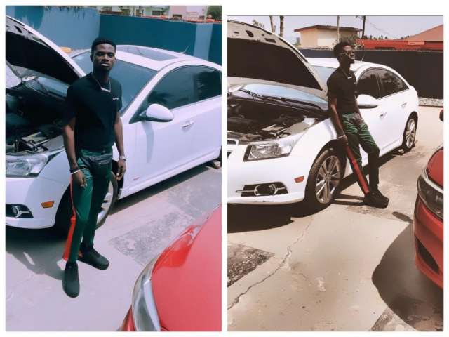 Kuame Eugene show off his Latest Car