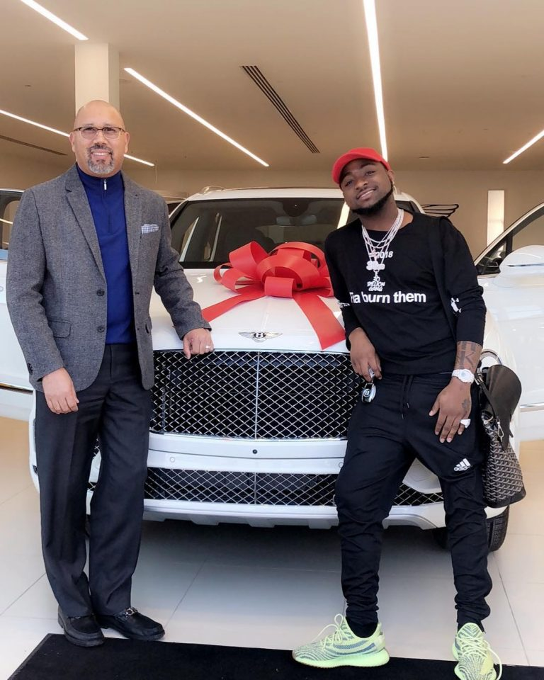 Davido picks up New Bentley in Atlanta