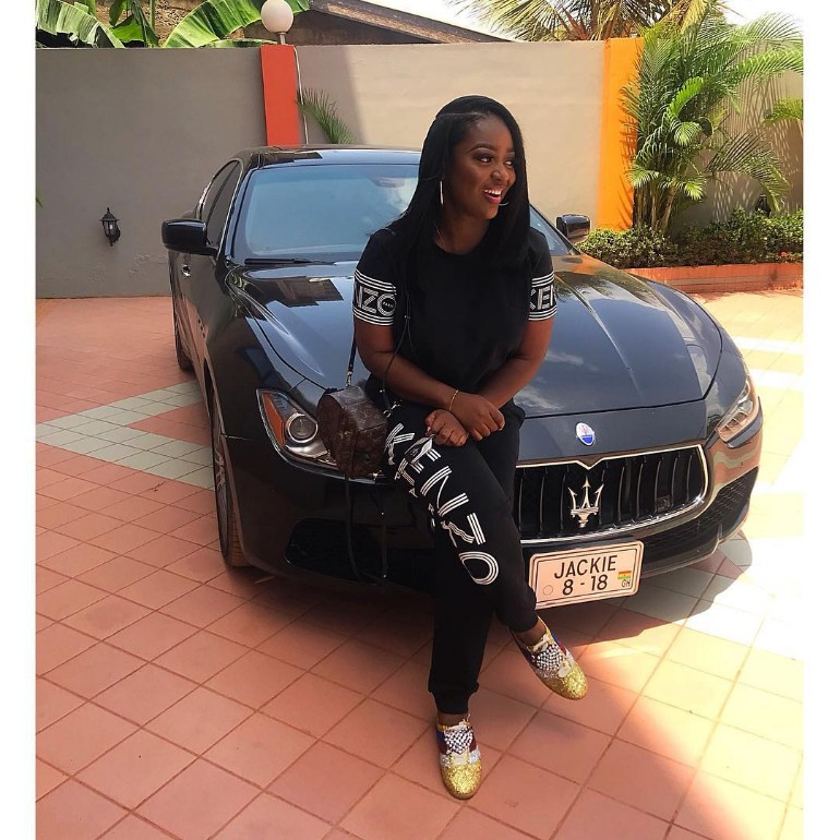 PHOTO: Jackie Appiah Wets Our Eyes With 'New Release' Of 2018 Customized Maserati