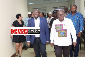 Bawumia arrives to rousing welcome from medical leave