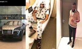 Hushpuppi reacts Mompha after shade over his N150million 2018 Rolls Royce Wraith