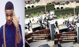 VIDEO -Wizkid causes serious commotion at Banky W's birthday party