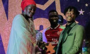 Fancy Gadam Grabs Artiste Of The Year Award and Causes Stir