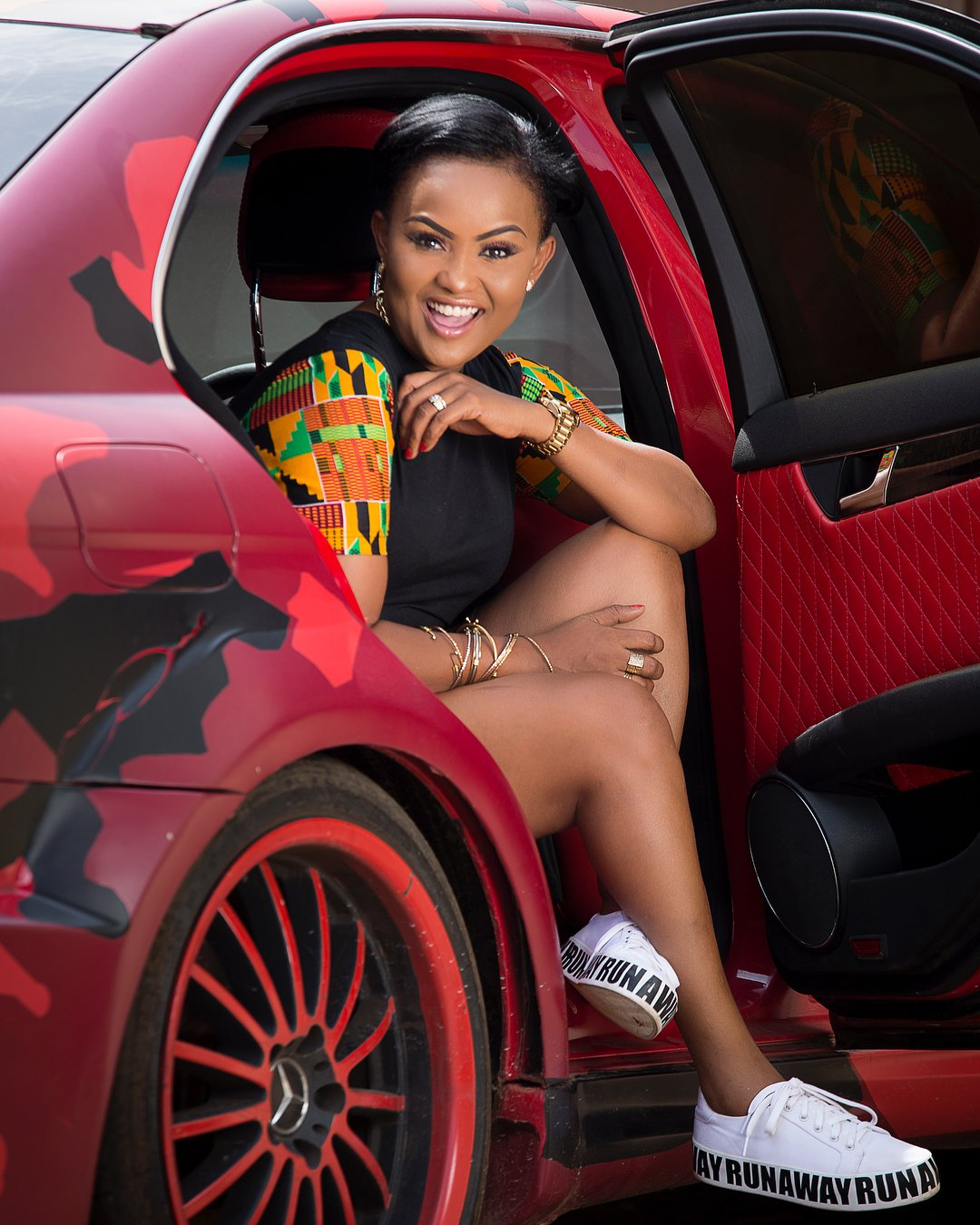 Nana Ama McBrown Matches Her Clothes With Her Car