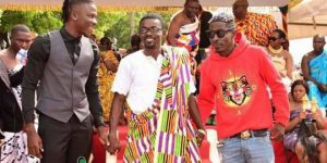 Photos: Nana Appiah Mensah Brings Shatta Wale & Stonebwoy Together At Manhyia Palace