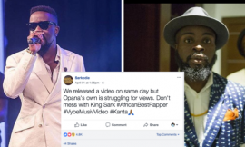 """Sarkodie Calling For A Re-Beef? """"Opana's New Music Video Struggling To Get Views""""–Check Sarkodie's Jab To Manifest"""