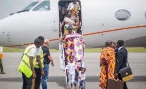 Photos of Zylofon Media boss and family arrives in Grand Style  from their private jet in Kumasi ; will melt your heart