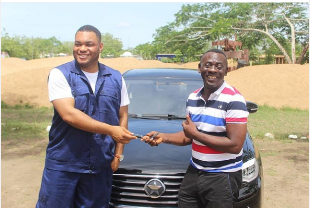 Photos: Akrobeto Flaunts His  New Kantanka Car
