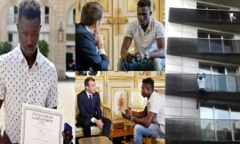 France President Grants The African Migrant Who Climbed 4 Storey To Save A Child, French Citizenship