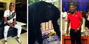 Asamoah Gyan Sheds Uncontrollable Tears As He Visits His Late Mom's Grave (+ Photos & Video)