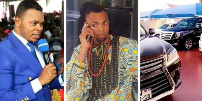 Rev. Obofour Also Shows Off His New Rolls-Royce Ghost & Other Collection Of Cars To Challenge Obinim ( + Photo & Video)