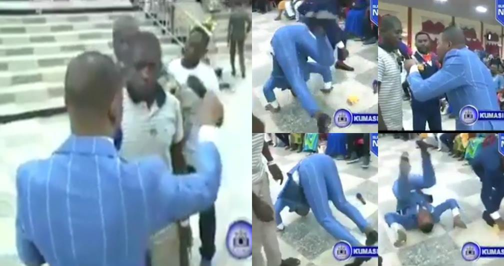 Pastor Obinim Somersaults After Member Wins 2 Billion Ghana cedis With Lotto Number He Gave Him (Video)