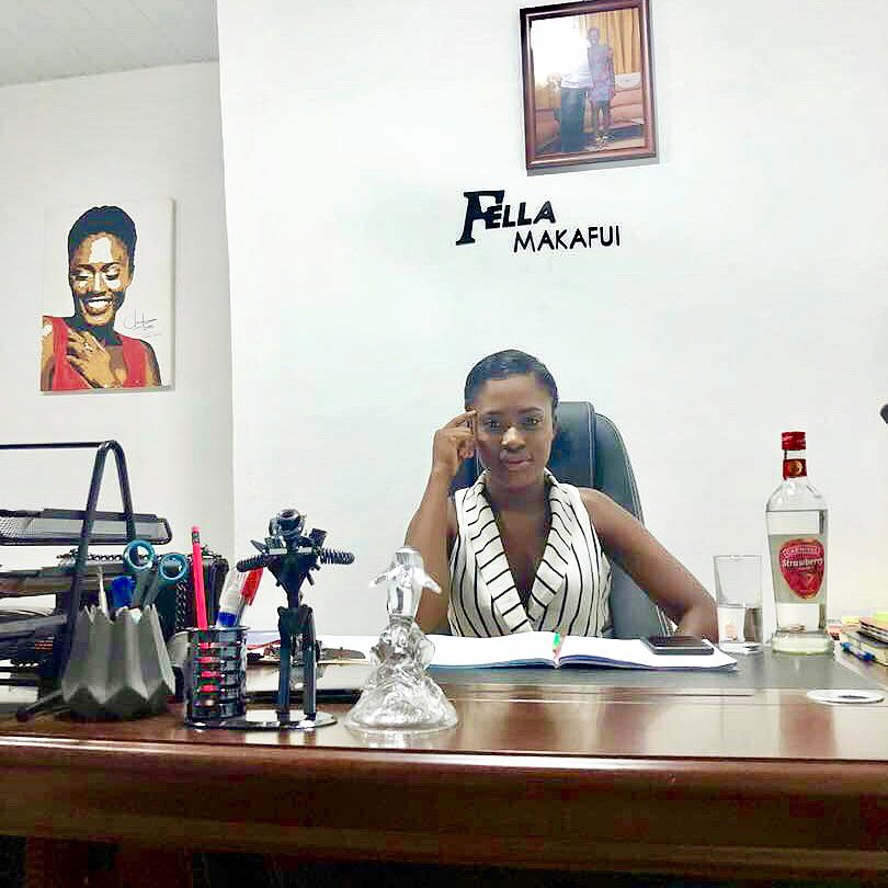 Fella Makafui Shares New Photos Of Her Office After Brouhaha