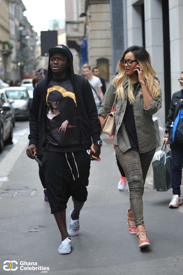Sulley Muntari Captured Cooking For His Wife, Menaye Donkor