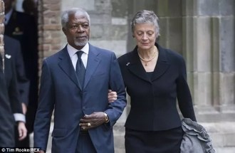 Kofi Annan's Wife, Nane's last words to her husband (Photos)