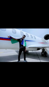 Starboy Jet! Wizkid Makes Grand Entrance Into Cotonou, Benin In A Private Jet Just Like Davido… But He Didn't Go With Any 'Chioma' [Video]