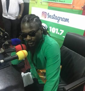 Samini Leaves Okay FM Studios After Band Mishap