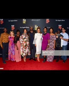 Los Angeles: Joselyn Dumas, Nikki Samonas Attend Premiere For '40 & Single'(PHOTOS)