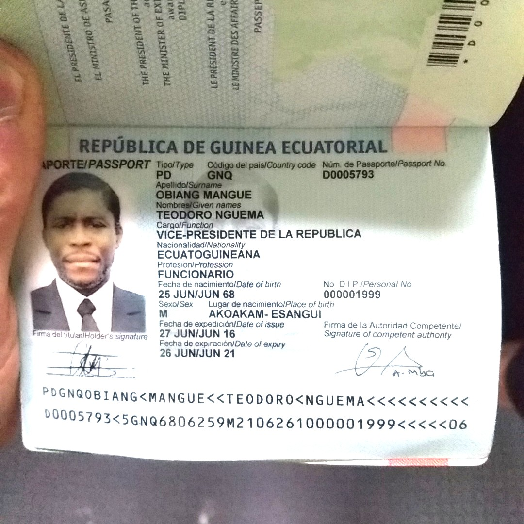 PHOTOS :Equatorial Guinea's Vice President Busted