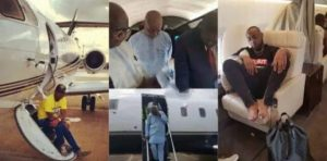 I gave my dad the private jet and I used a commercial flight – Davido replies fan about Nairobi's issue