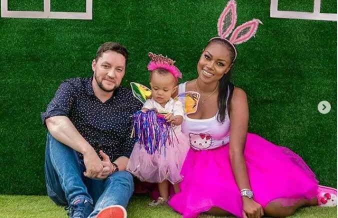 Yvonne Nelson And  Baby Daddy Together At Daughter's First Birthday Party (Photos+Video)
