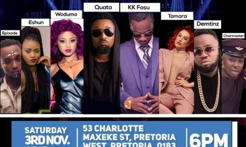 Article Wan,Patapaa,Praye Honeho, Medikal And Others to Storm South Africa For Ghana Music Awards