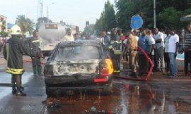 (VIDEO&PHOTOS): Gas explosion at Kumasi; several cars, fitting shops burnt