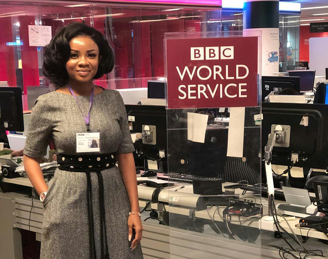 GhOne TV's Serwaa Amihere Tours BBC World Service(PHOTOS)