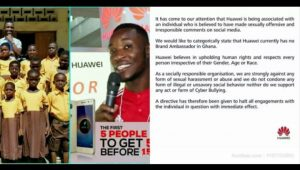 Teacher Kwadwo wasn't Our Brand Ambassador In Ghana- Hauwei