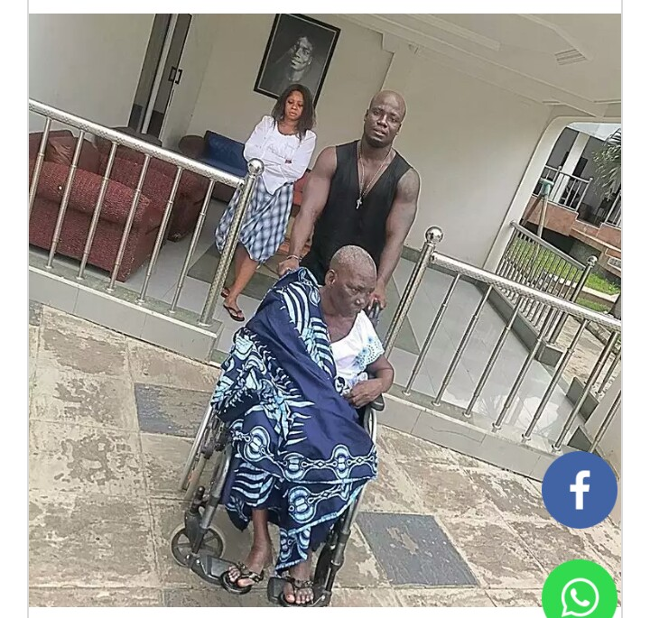 Sad :Stephen Appiah mourns his mum as he celebrate his birthday today
