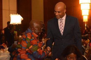 President Nana Addo Holds Breakfast Meeting With Visiting American Stars
