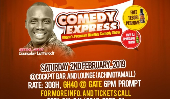 Counselor Lutterodt Now a Comedian? Set to Feature on Feb. 2nd Comedy Express edition.
